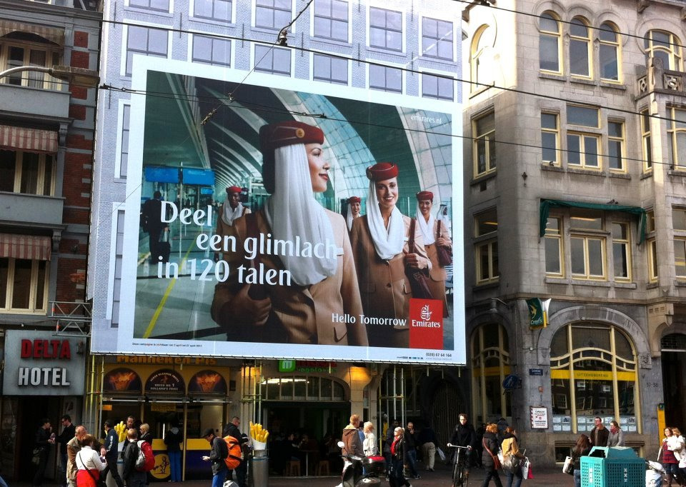 Emirates Share a Smile in Dutch